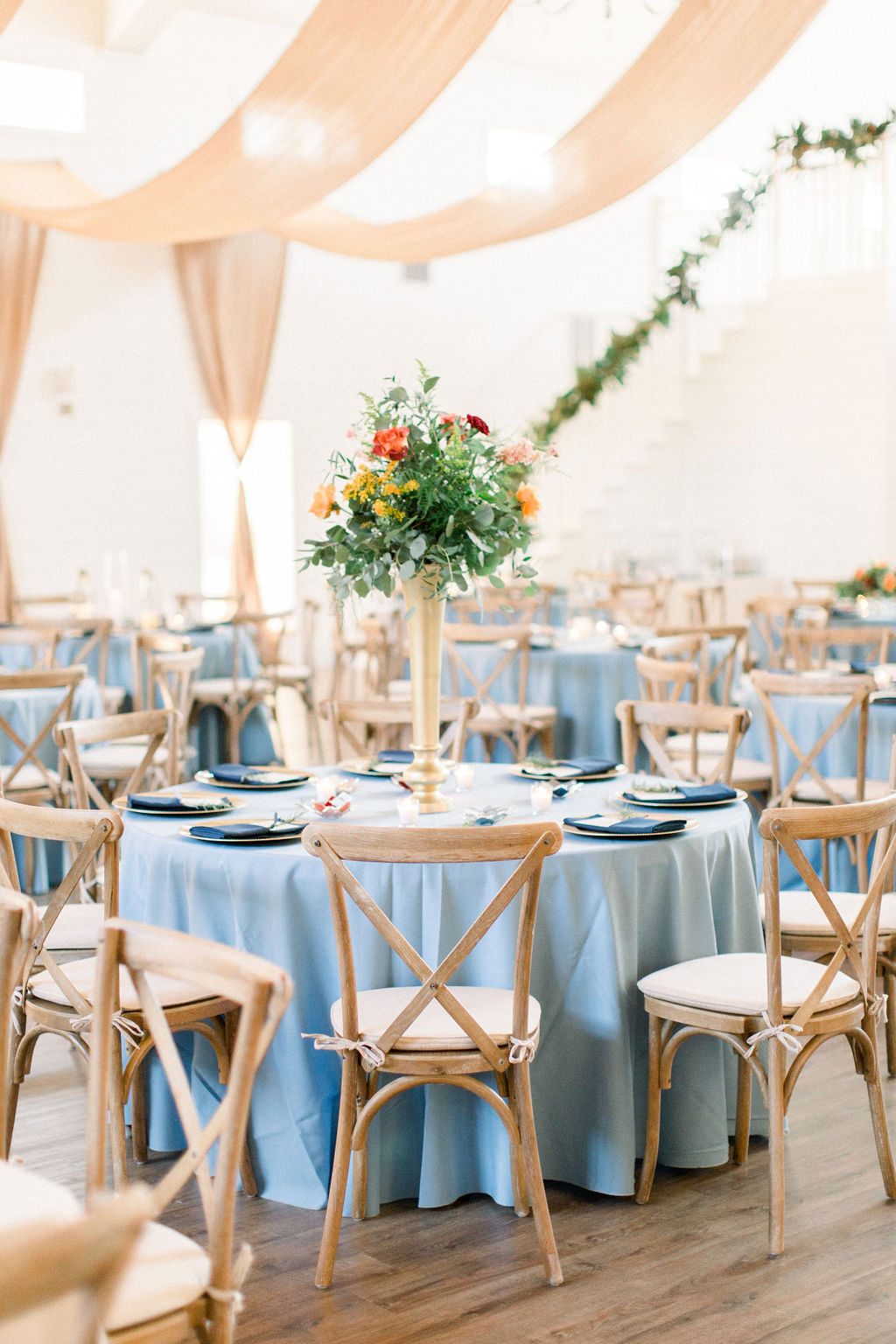 Light Blue Wedding Reception
