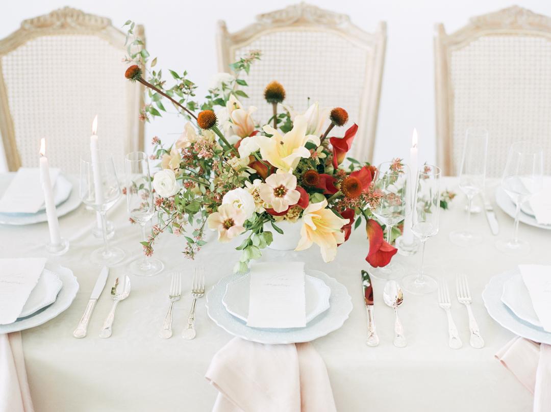 Lily Ranunculus Calla Wedding Centerpiece