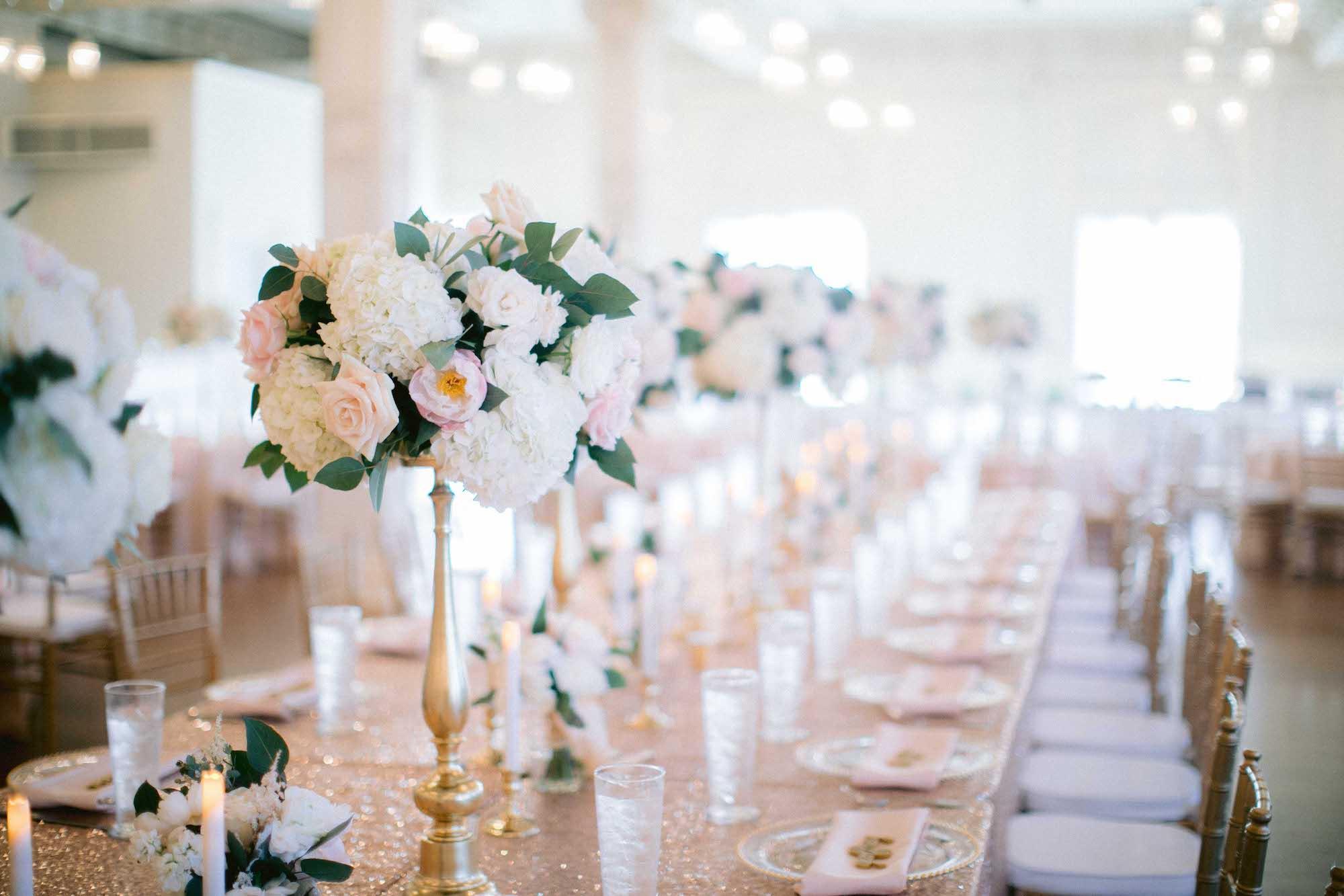 Long Farm Style Table Wedding Reception