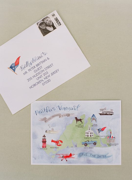 Marthas Vineyard Nautical Wedding Invitations