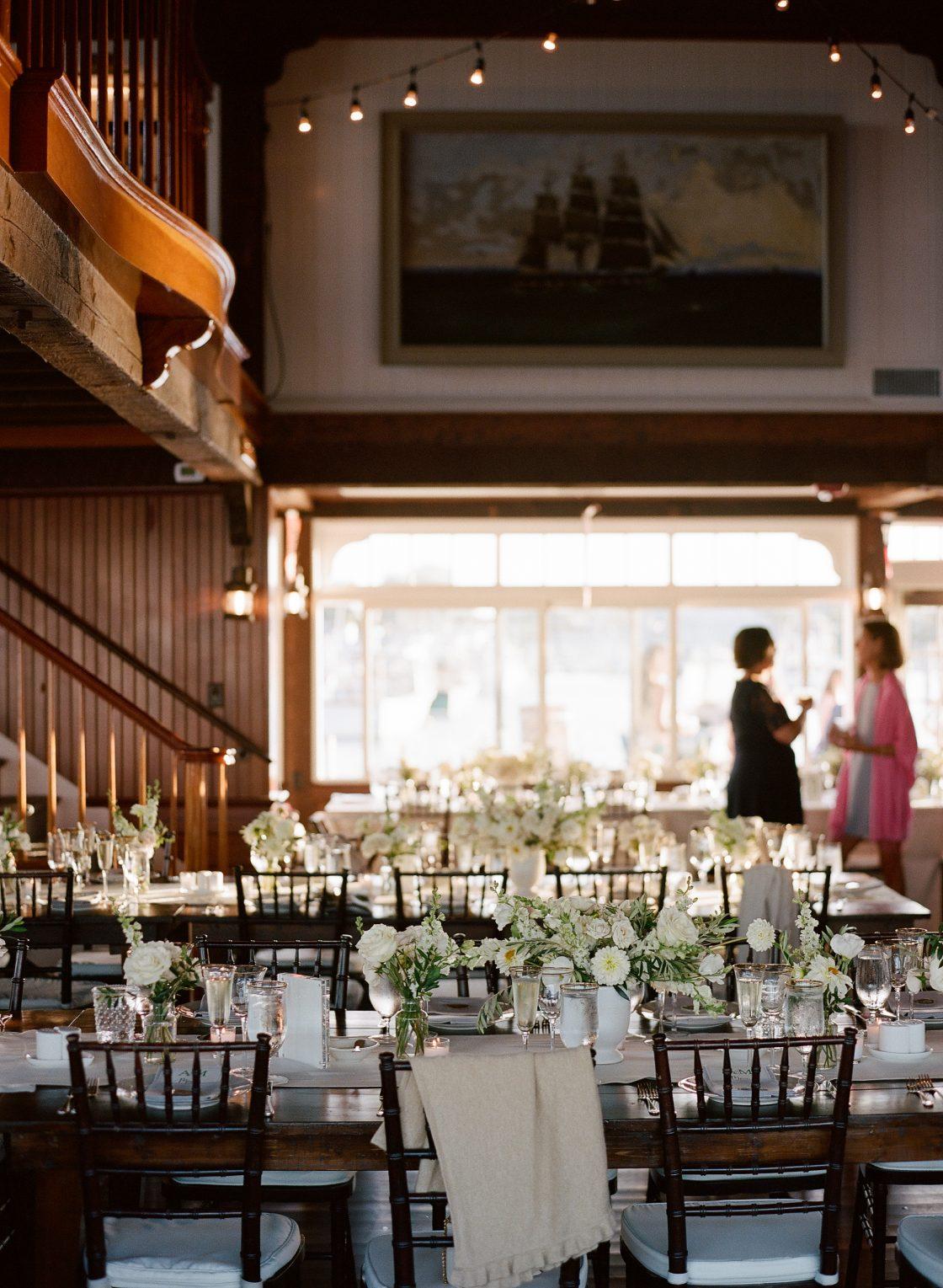 Nautical New England Wedding Reception