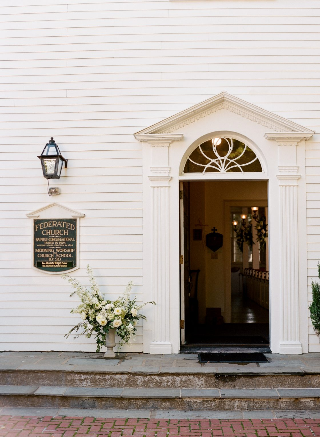 New England Church Wedding