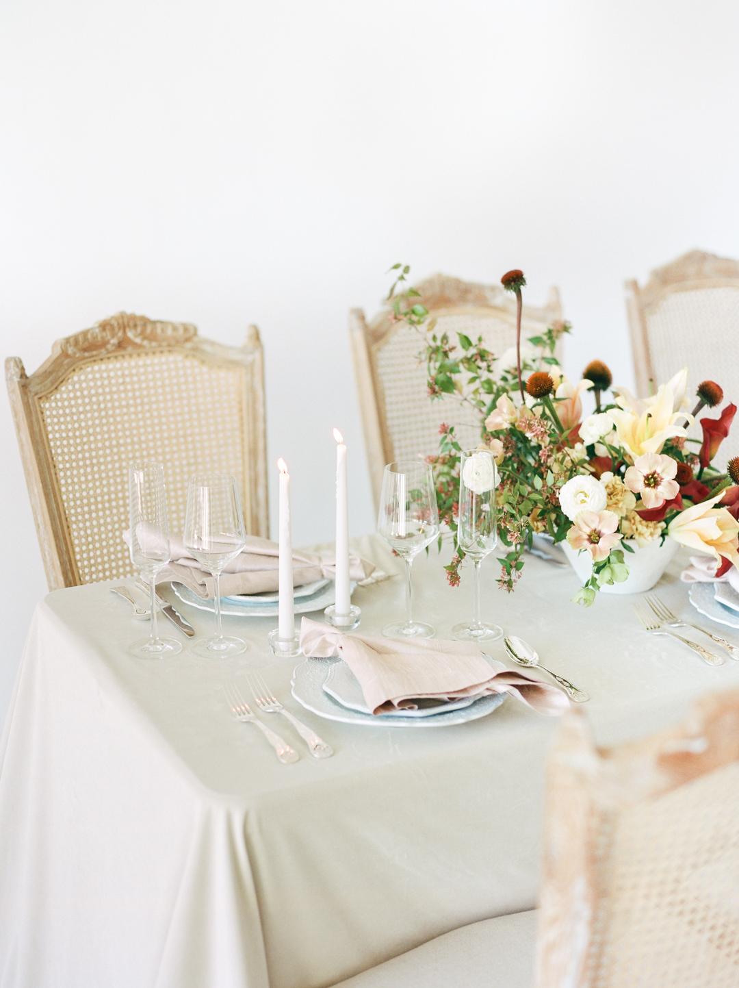 Organic Romantic Wedding Tablescape