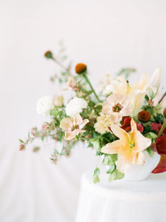 Peach Lily Wedding Centerpiece