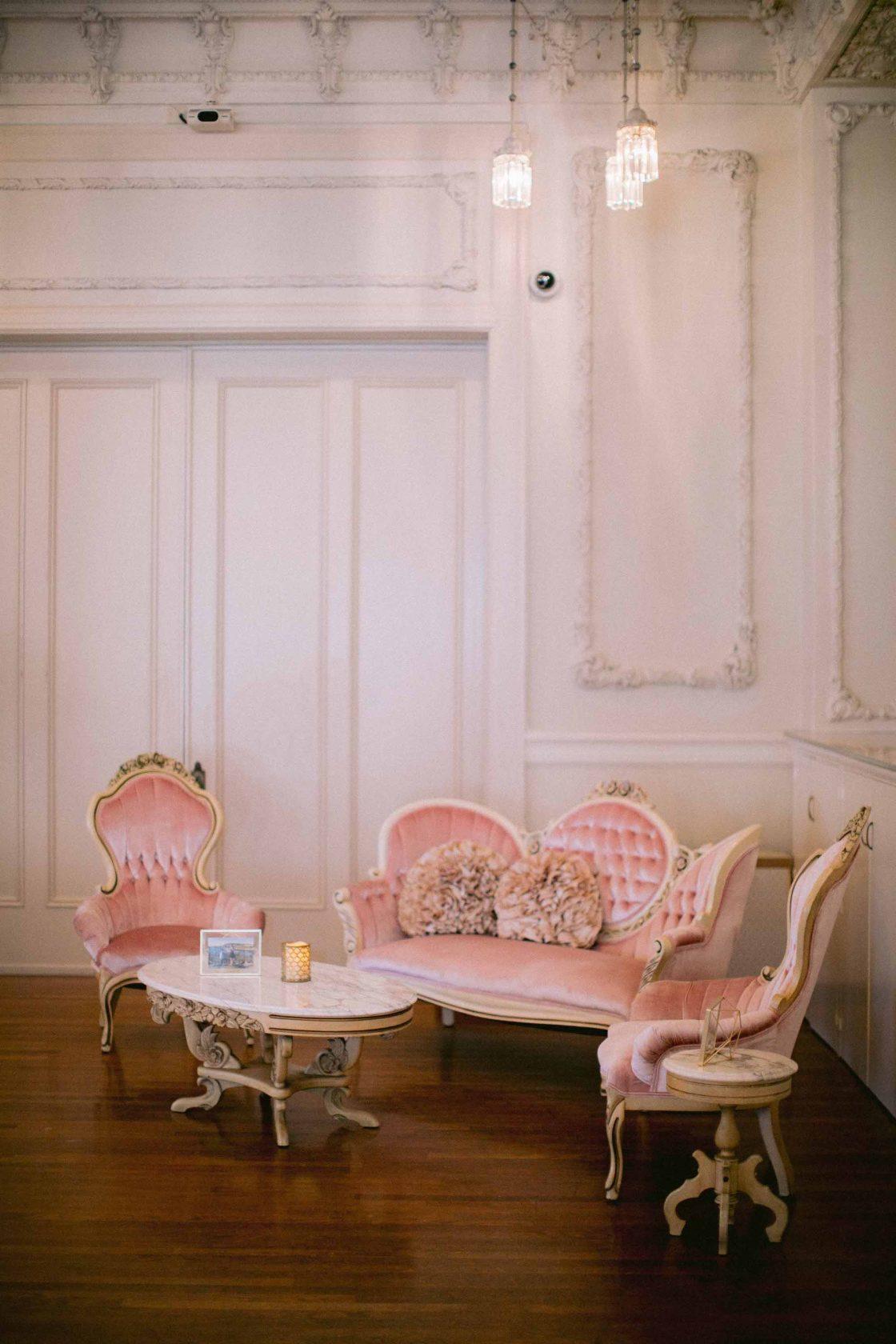 Pink Velvet Wedding Lounge