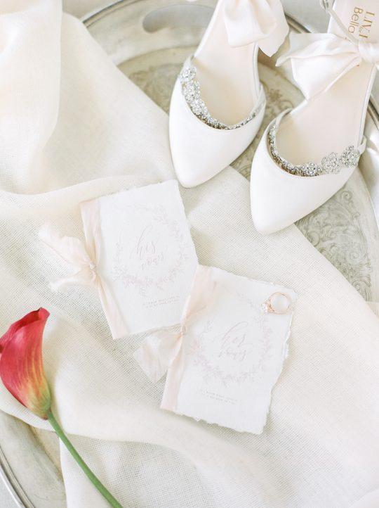 Romantic Calligraphy Wedding Vows Book