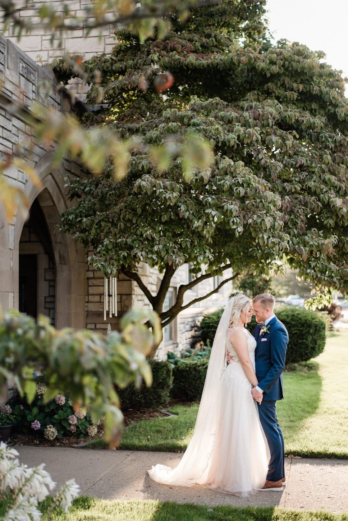 Romantic Garden Inspired Wedding Portrait