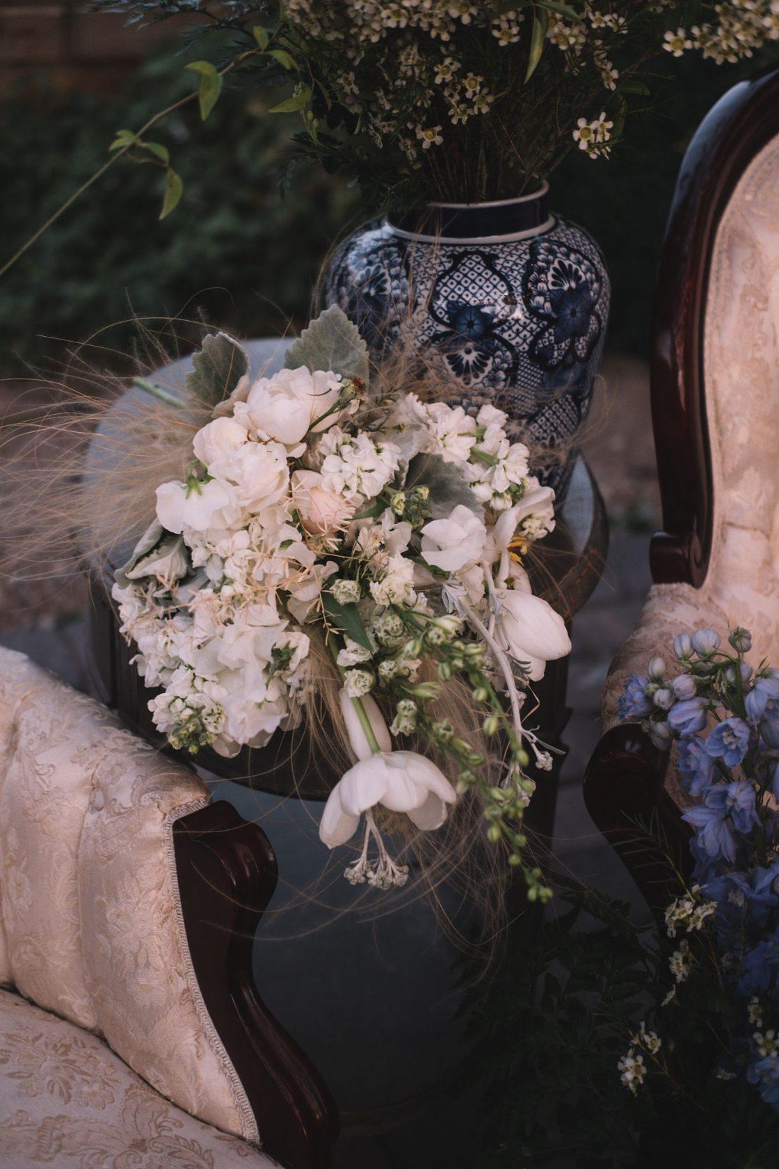 Romantic Natural White Wedding Bouquet