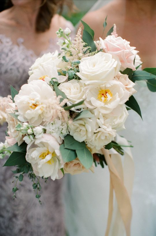 Rose Astilbe Stock Wedding Bouquet