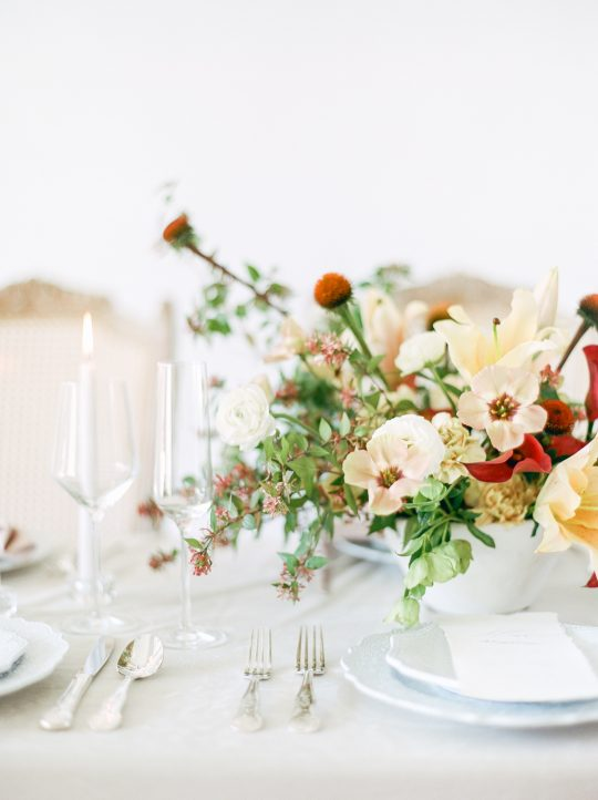 Rust Peach and Ivory Wedding Flowers