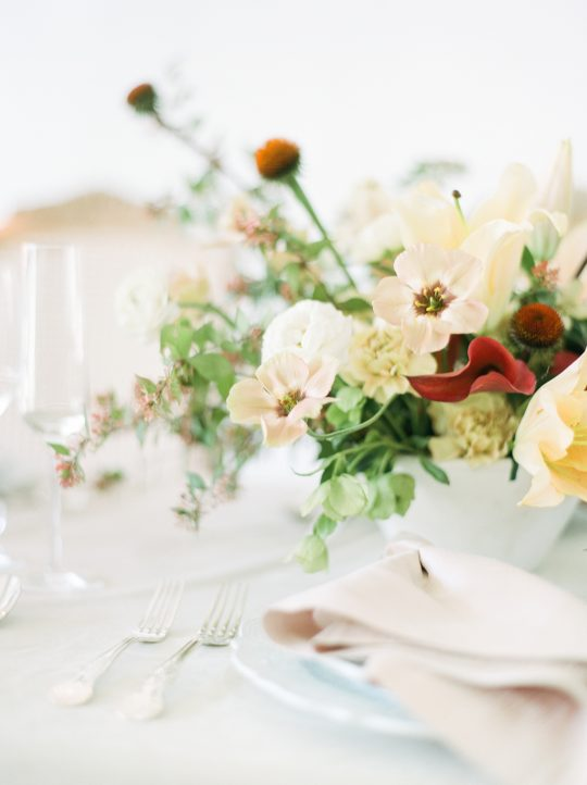 Rust and Peach Wedding Tablescape
