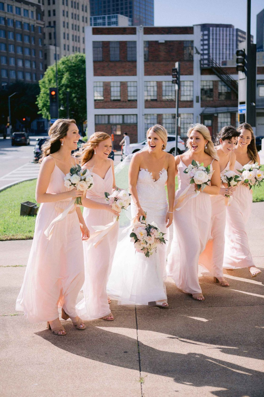 Soft Blush Bridesmaids Dresses