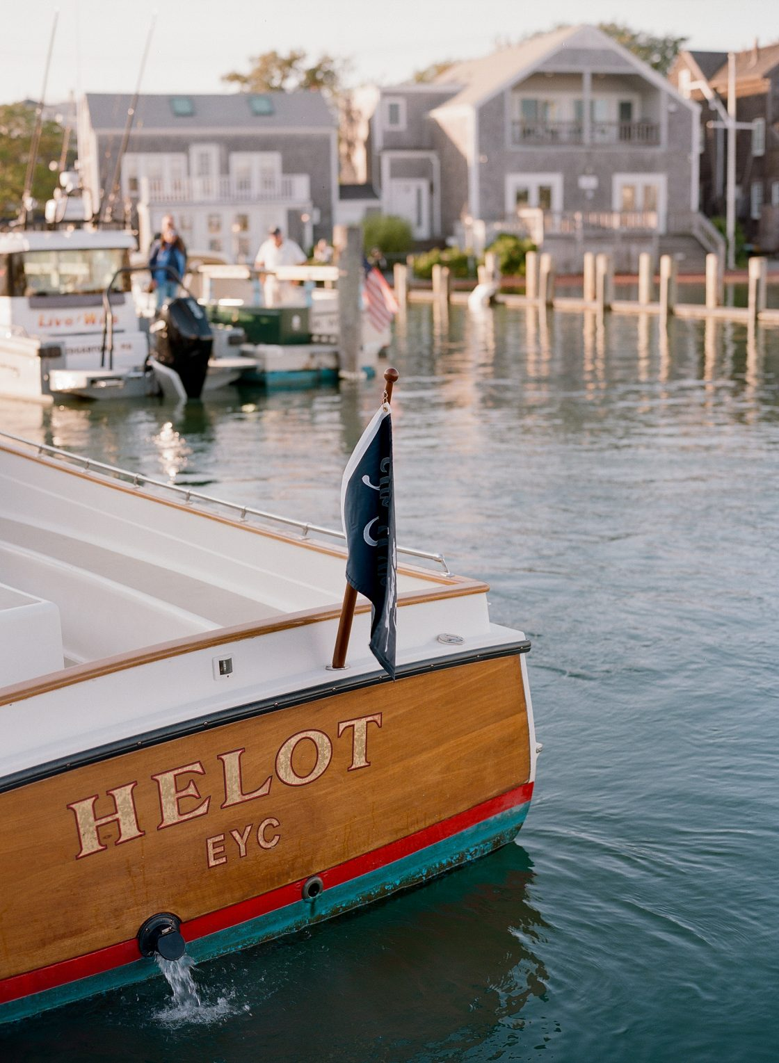Wedding Ceremony Getaway Boat