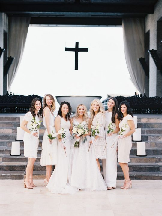 White and Ivory Bridal Party