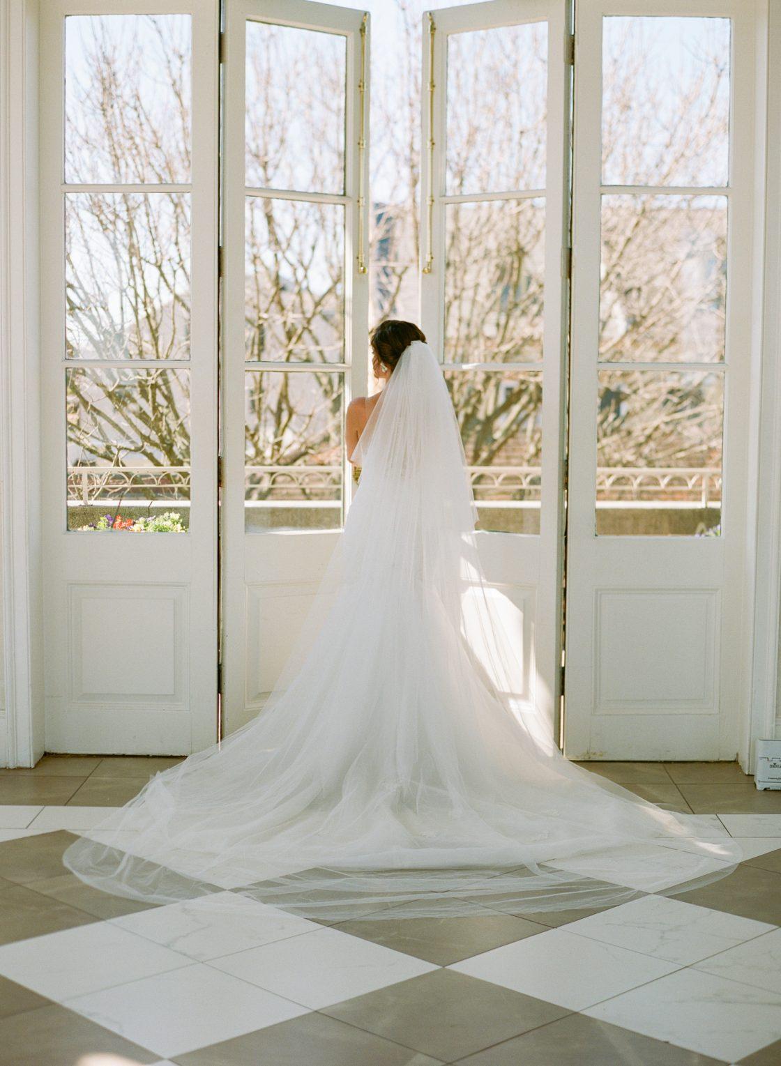 Dramatic Wedding Dress Train