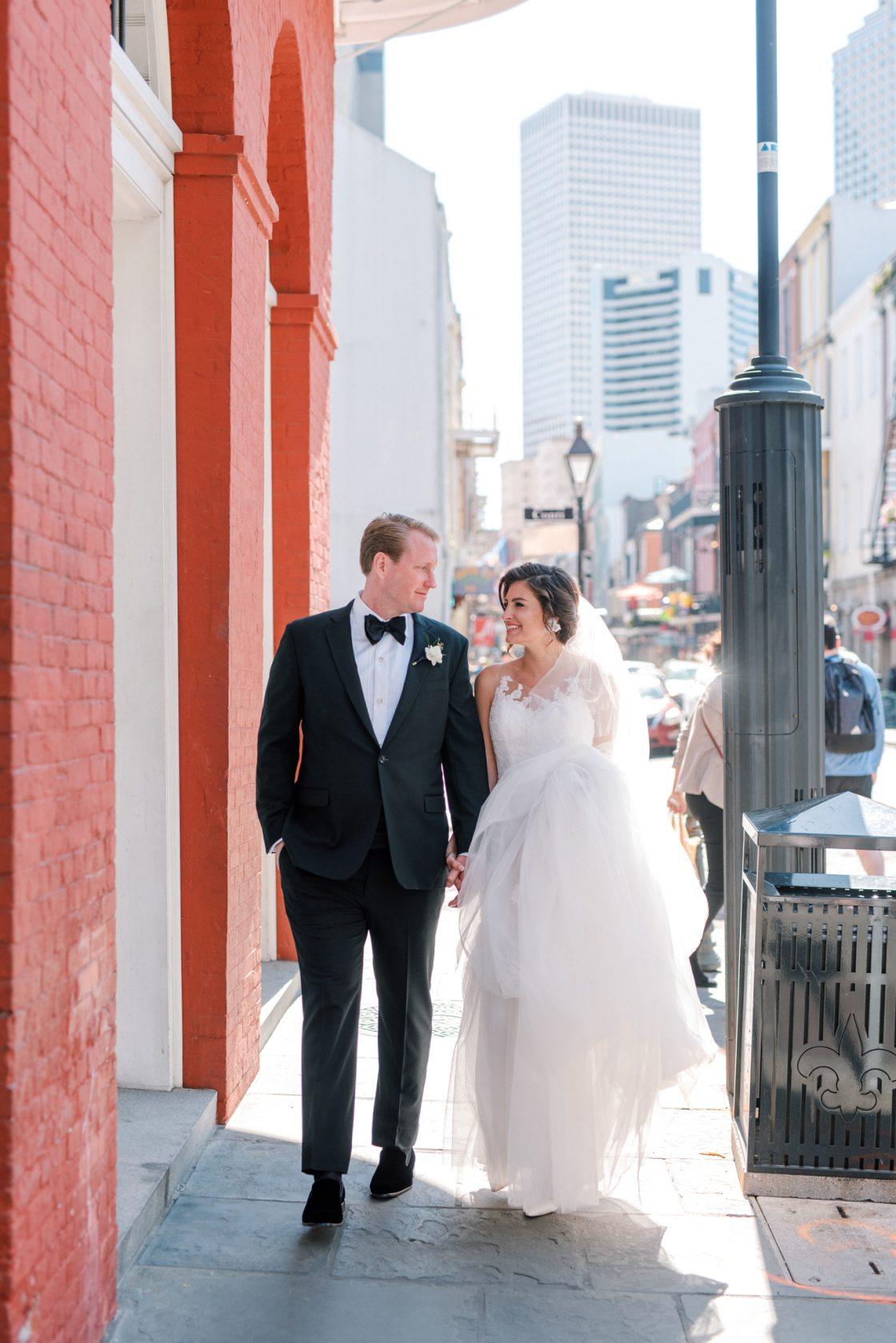 French Quarter Wedding Portrait