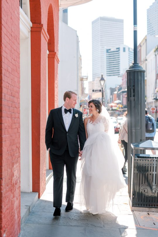French Quarter Wedding Portrait