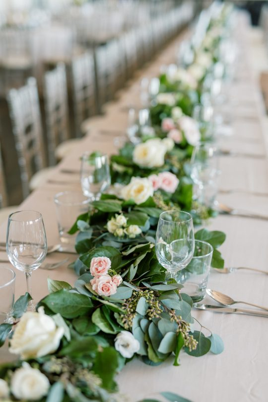 Greenery Garland Wedding Table Runner
