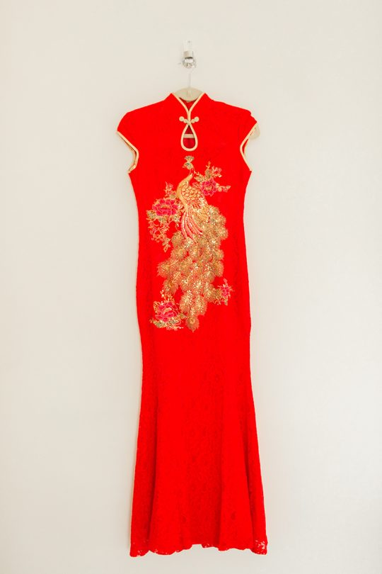 Chinese Red Wedding Tea Ceremony Dress