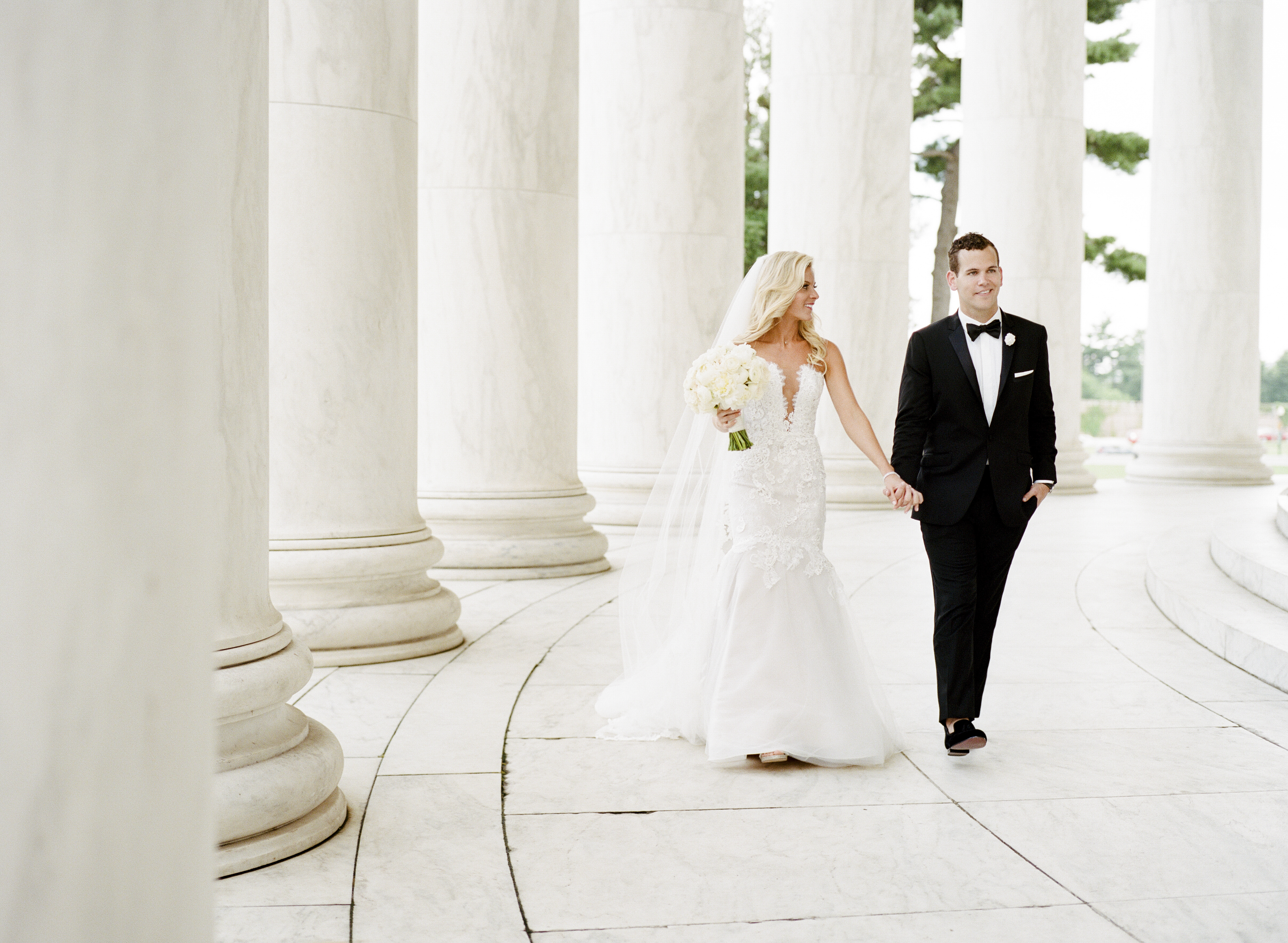 DC Columns Wedding Photo