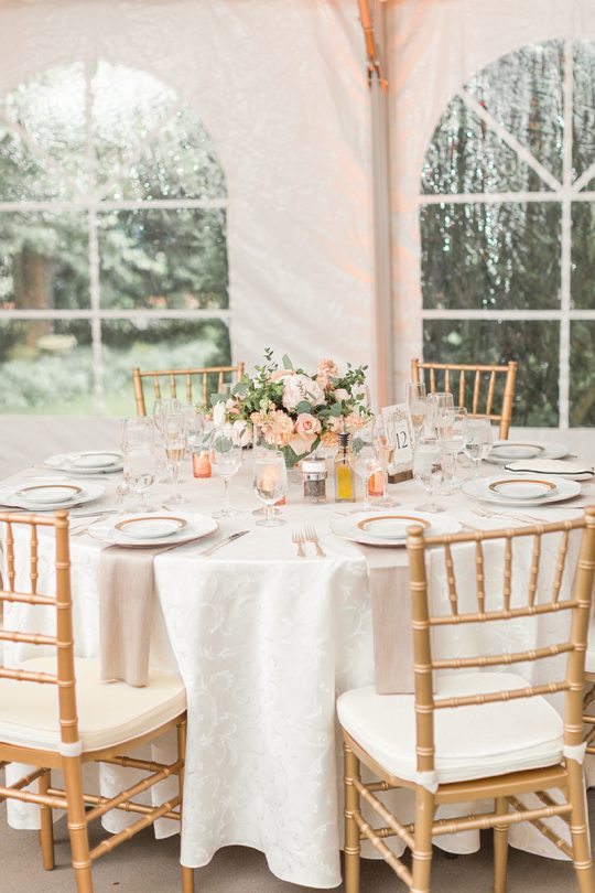 Elegant Peach Wedding Reception