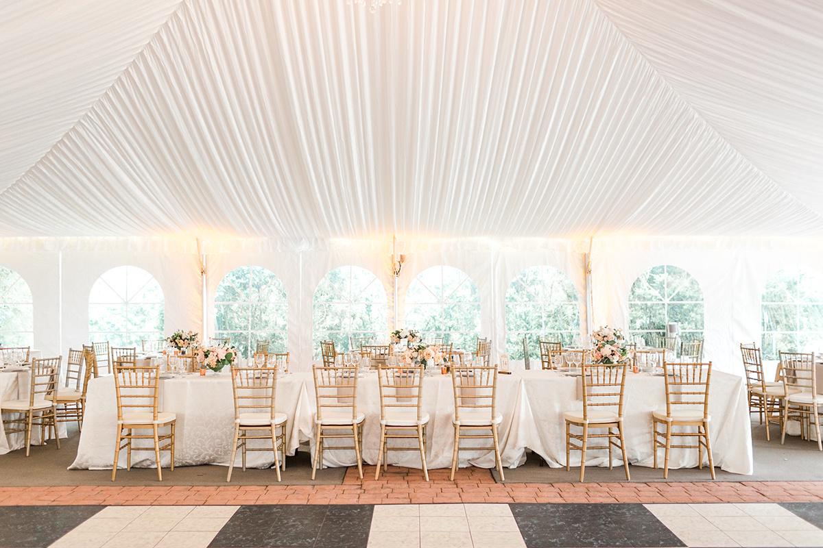 Elegant Tent Wedding reception