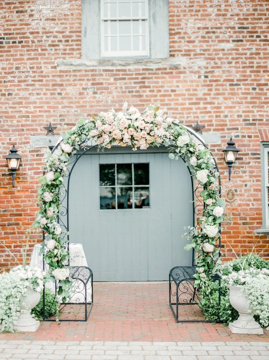 Floral Rose Wedding Ceremony Arch