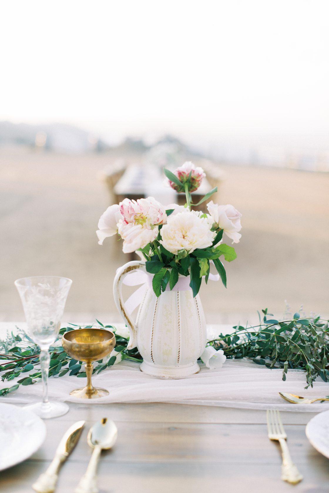 Garden Rose Wedding Floral Arrangement