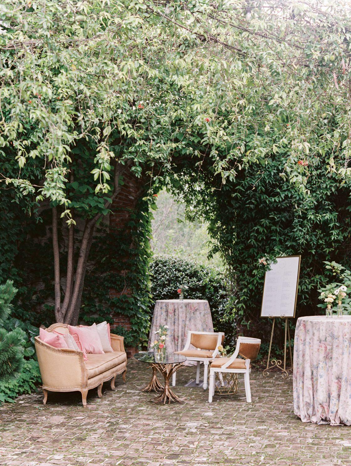 Garden Wedding Seating Area