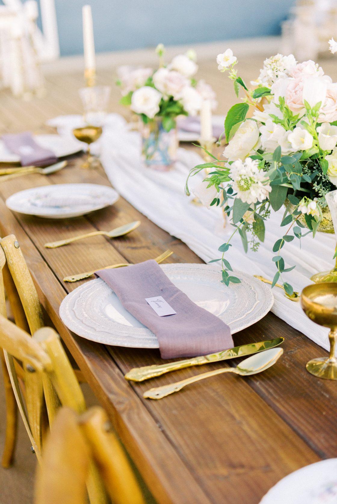 Gold Wedding Reception Flatware