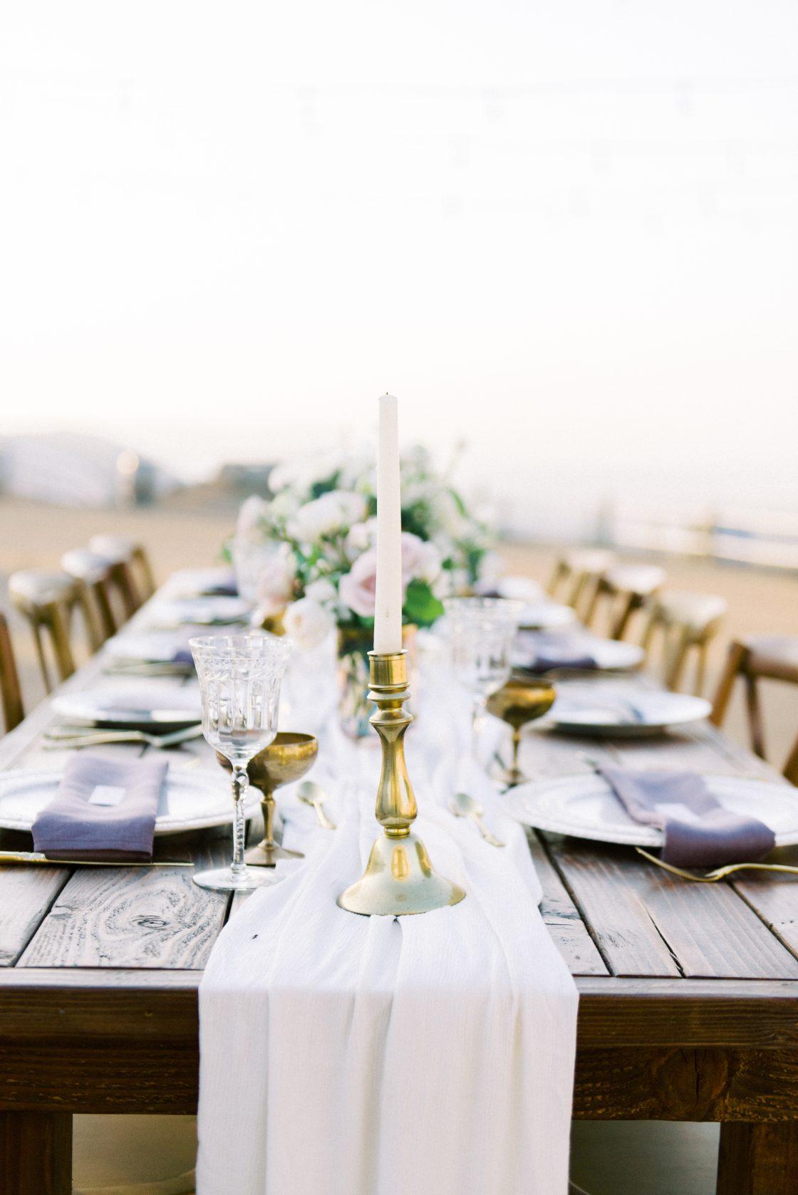 Golden Hour Sunset Wedding Reception