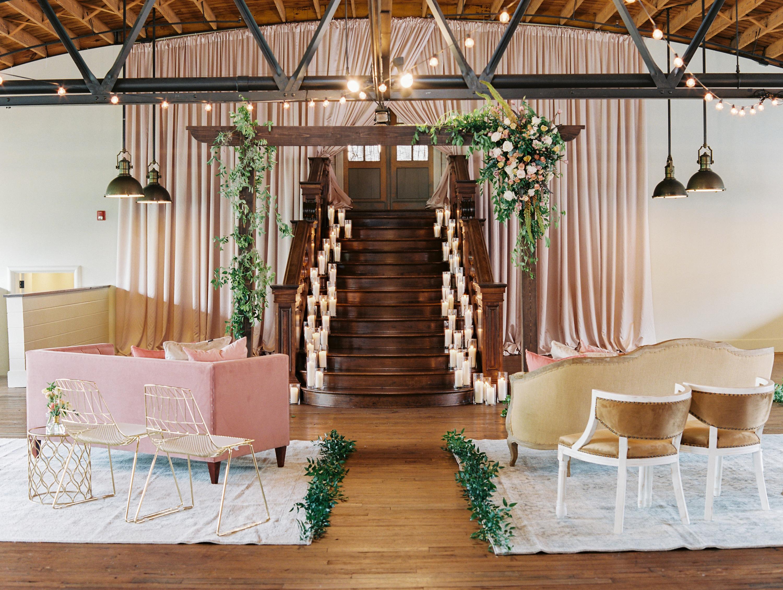 Indoor Estate Wedding Ceremony