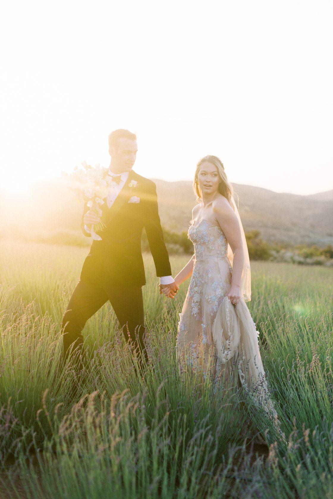 Lavender Farm Wedding Portraits