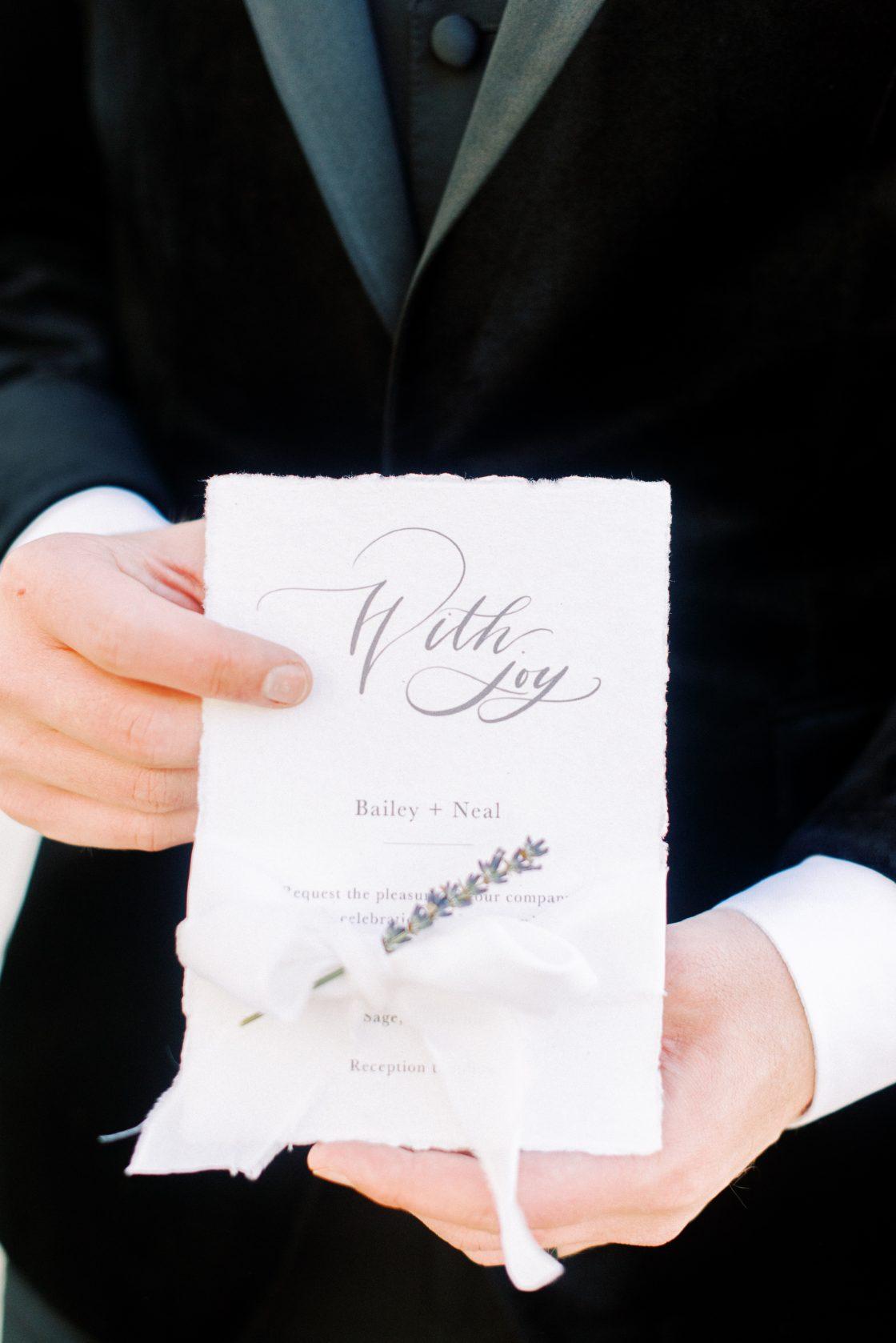 Lavender Wedding Stationery Detail
