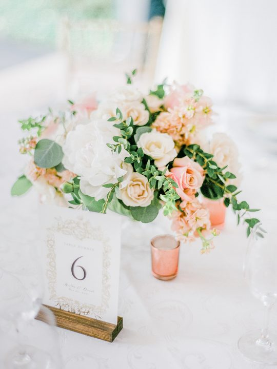 Light Airy Wedding Centerpiece