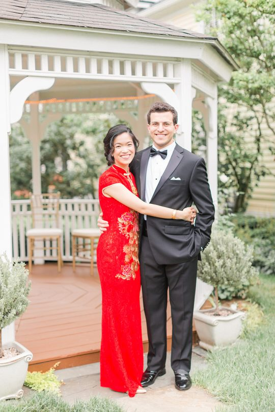 Red Tea Ceremony Wedding Dress