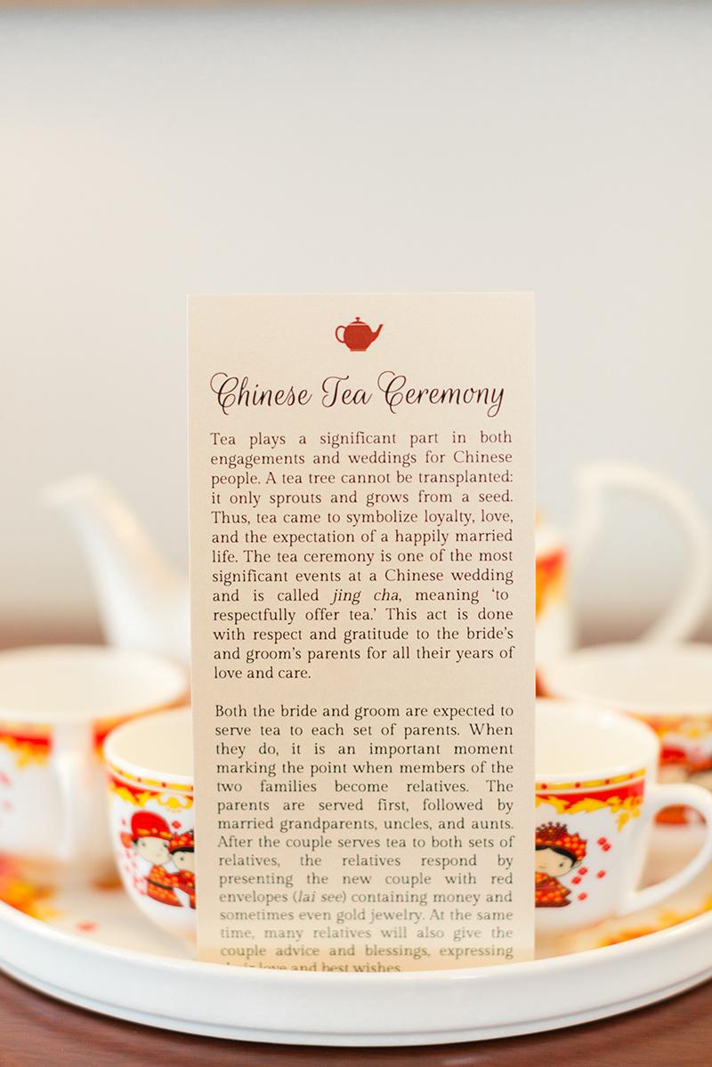 Tea Ceremony Wedding Card