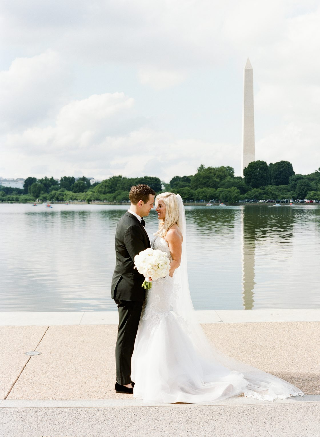 Washington Obelisk Wedding Portrait