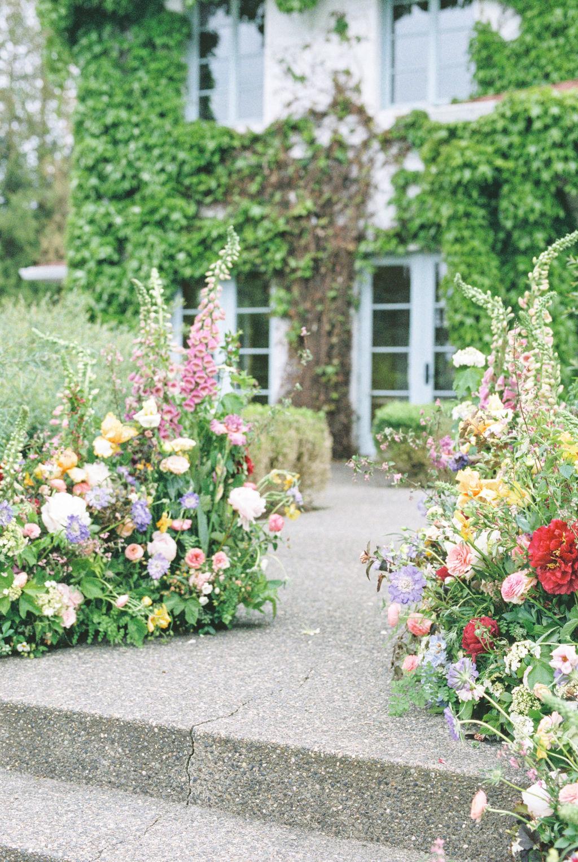 Foxglove Garden Wedding Ceremony Flowers