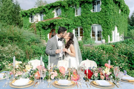 French Chateau Inspired Wedding Reception