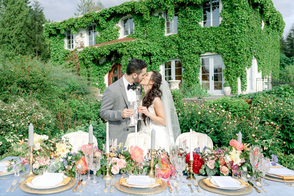 French Chateau Inspired Wedding Reception