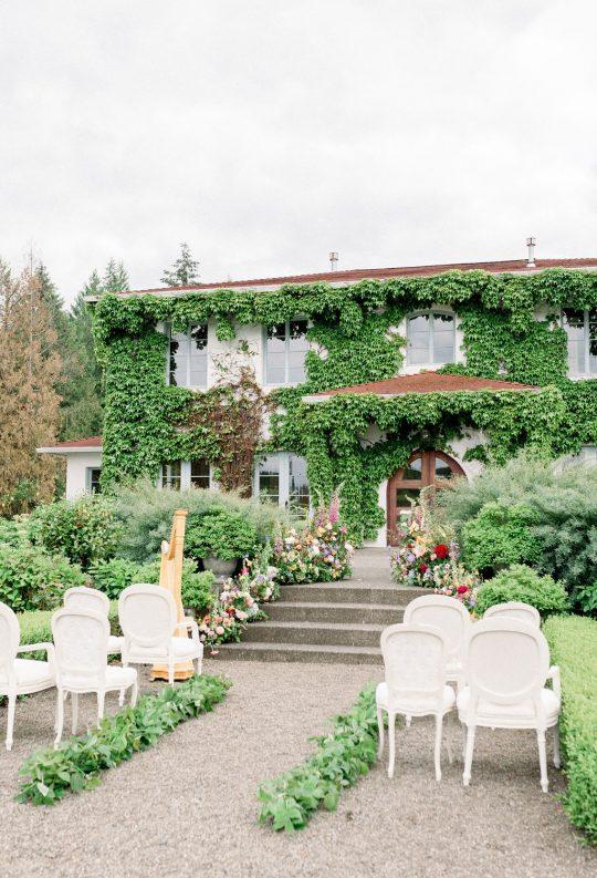 French Garden Wedding Ceremony