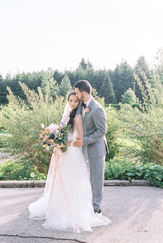 Intimate Garden Wedding Portrait