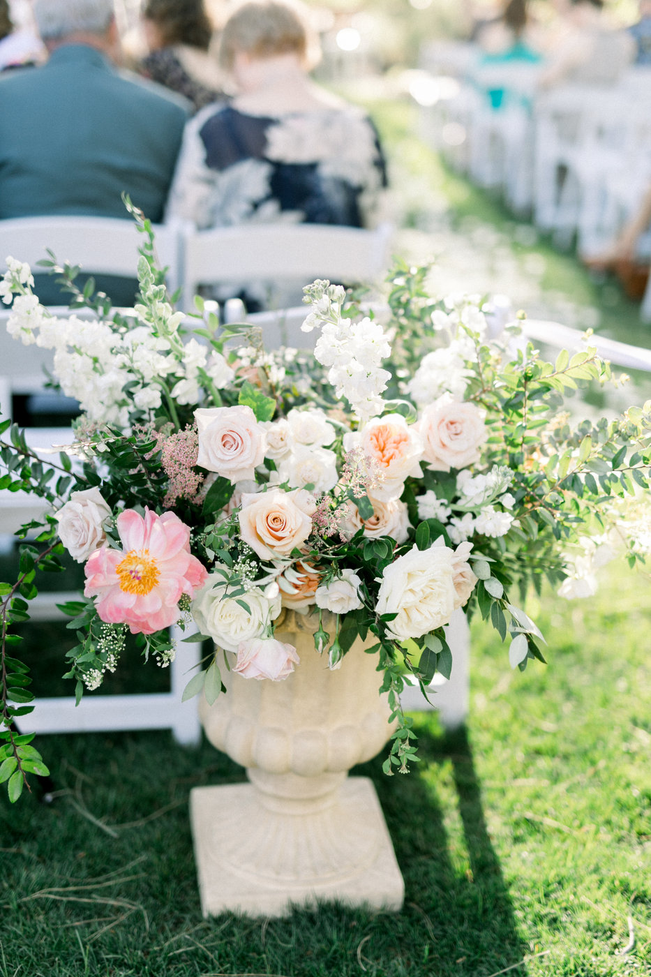 Large Urn Wedding Ceremony Florals