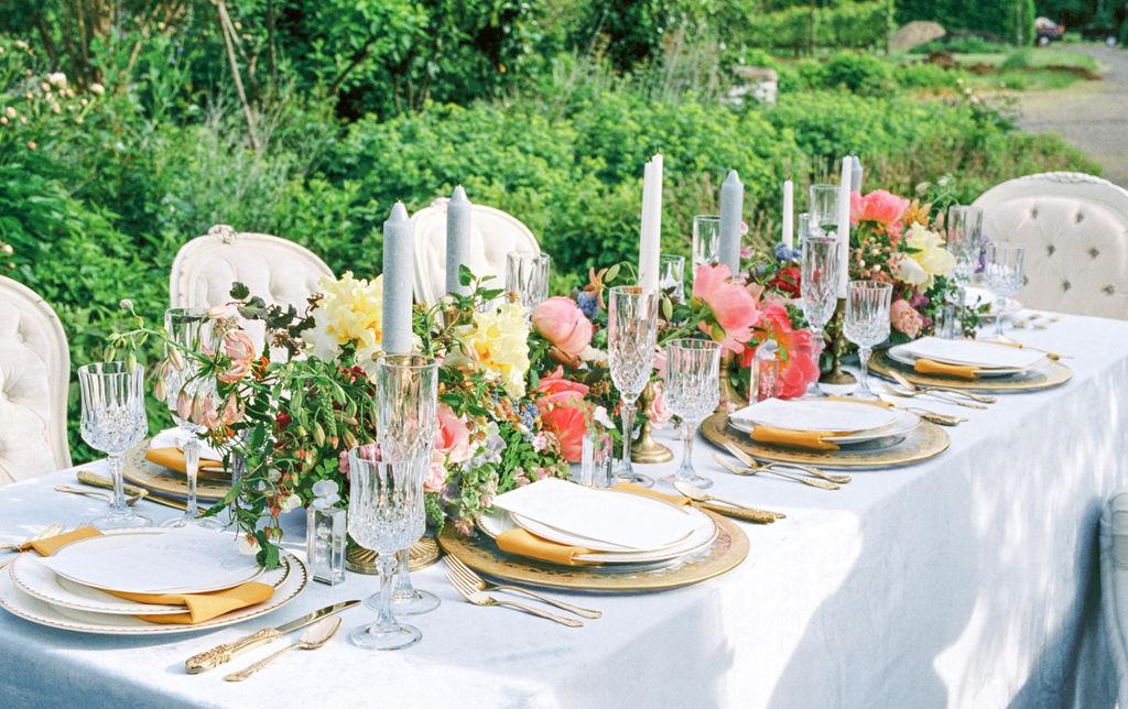 Lush Floral Garden Wedding Reception