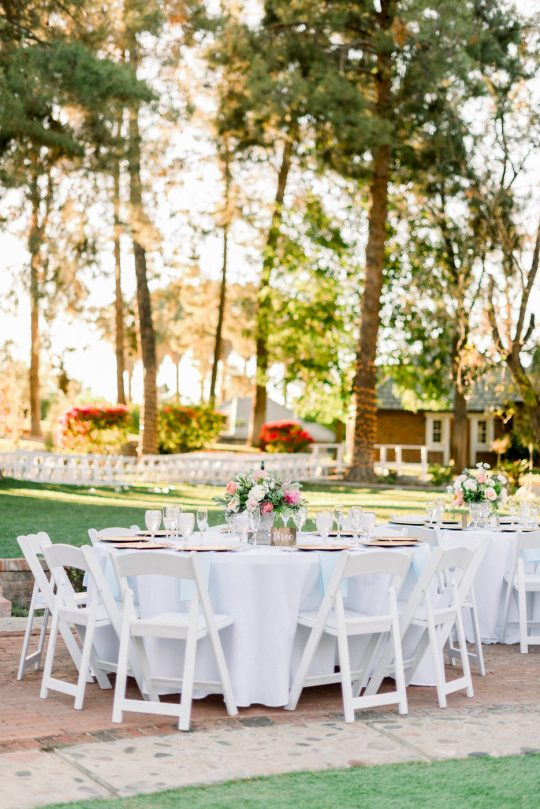 Outdoor Round Wedding Tables