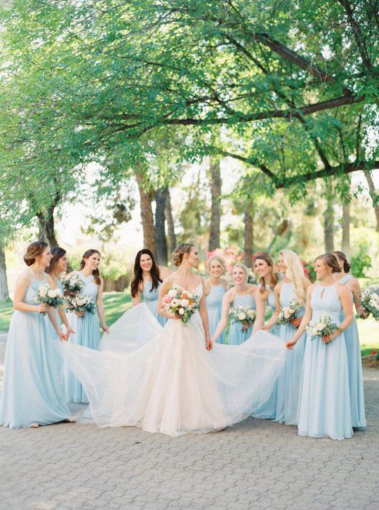 Powder Blue Bridesmaids Dresses