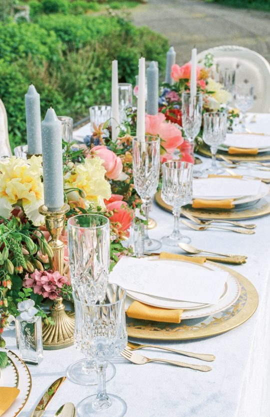 Romantic Elegant Garden Wedding Reception
