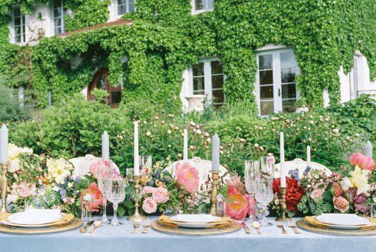 Romantic French Garden Wedding Centerpiece