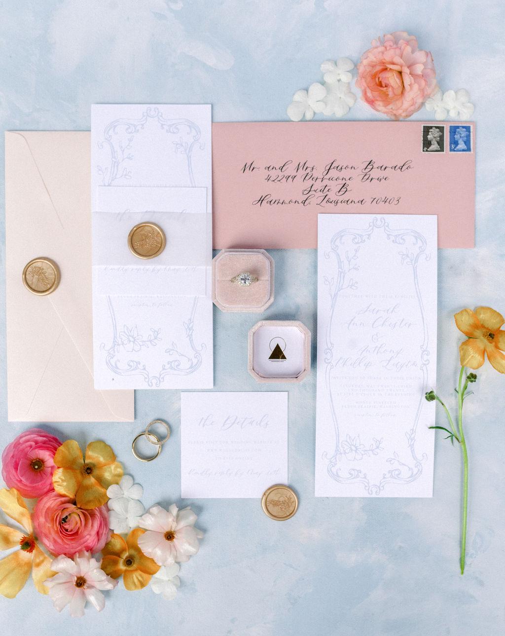 Romantic Garden Wedding Invitations